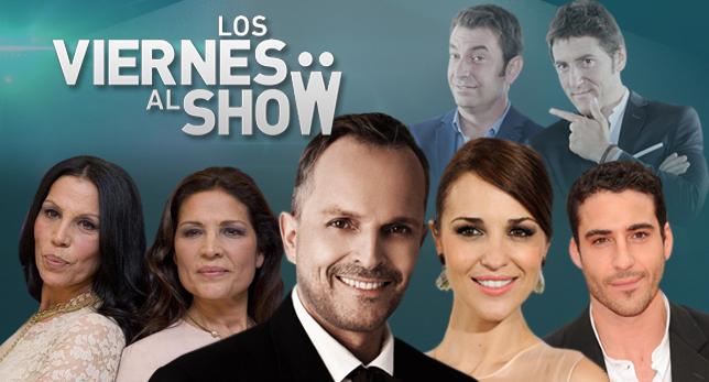 Paula Echevarría en 'Los viernes al show' junto a Miguel Bosé