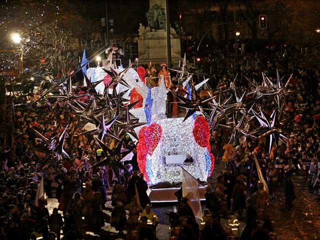 Los Reyes Magos en Madrid en 2015