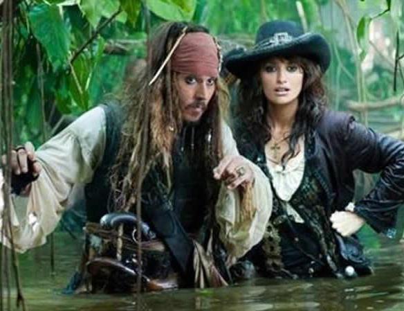 Piratas del caribe en mareas misteriosas en Antena 3