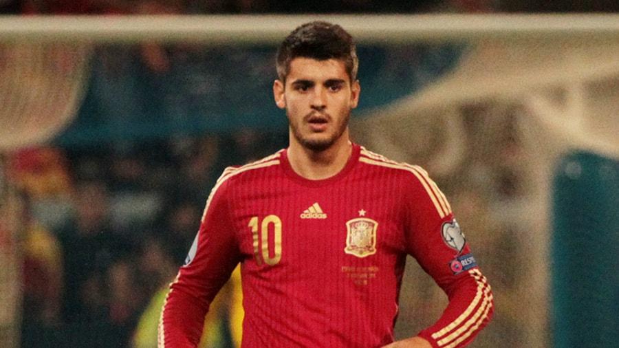 España - Costa Rica, Morata delantero de la selección española