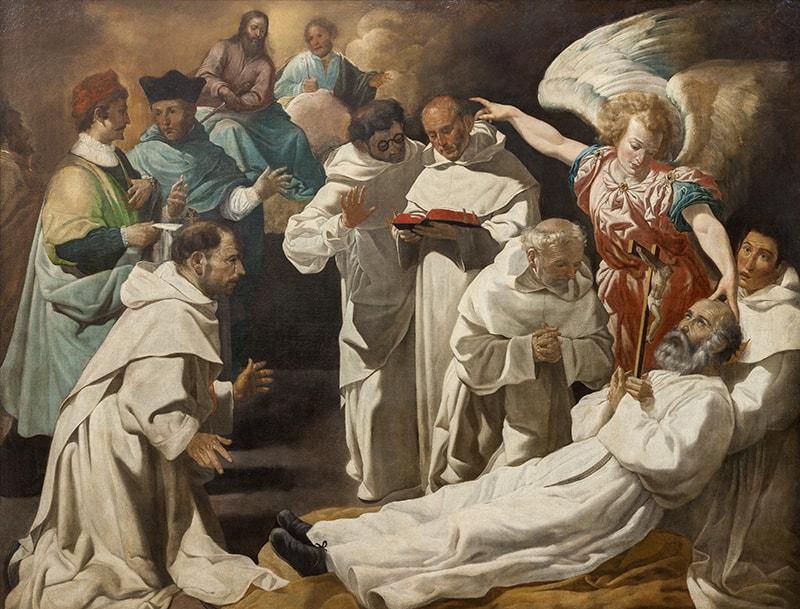 Zurbarán en el Thyssen, Muerte de San Pedro Nolasco