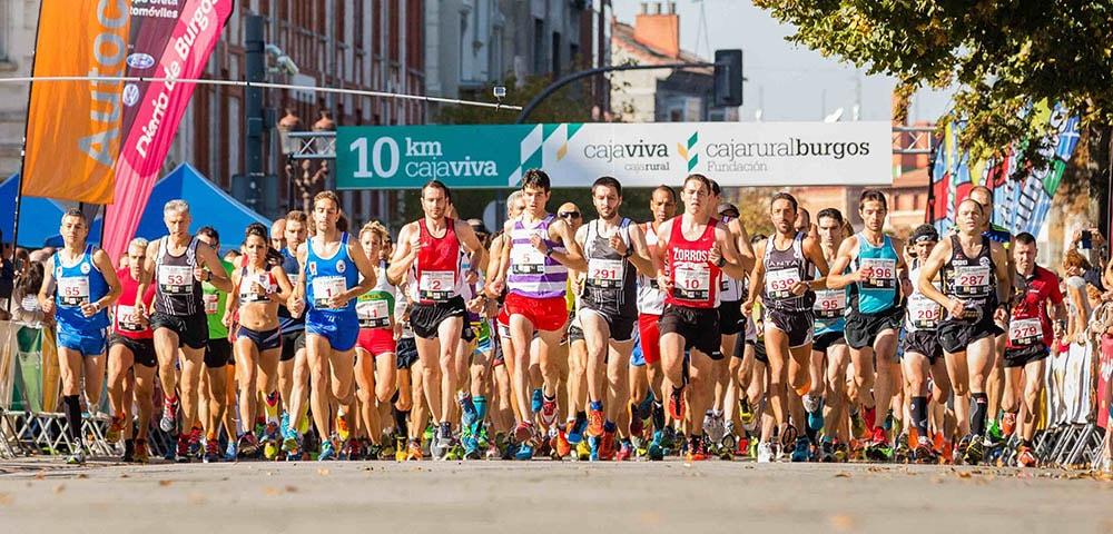 Carrera 10km Caja Viva en Burgos, 2015