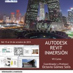 `Curso VII Curso de Autodesk Revit Inmersión´ organizado por Funge