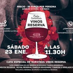 Curso cata de Reservas de Rioja en Bodegas Franco-Españolas