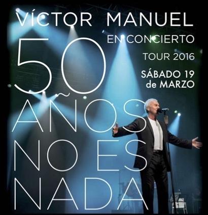Víctor Manuel, '50 años no es nada' en el Palacio de Ferias y Congresos de Málaga