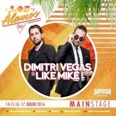 Los Dj n1 mundial Dimitri Vegas & Like Mike en el Festival Los Álamos Beach 2016