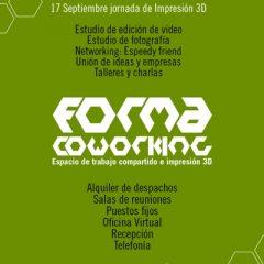 Taller de impresión 3D en Forma Coworking de Vigo