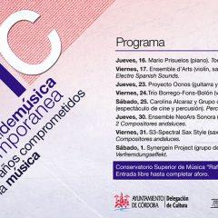 XX Festival de Música Contemporánea, programación