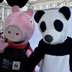 La hora del planeta en Madrid con Peppa Pig