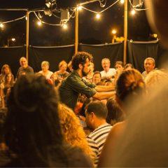 Clara Peya y Guillem Albá en concierto con 'pluja'