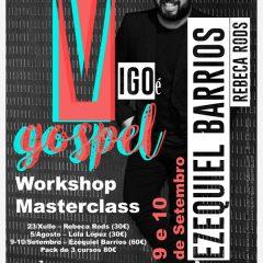 Vigo é Gospel, Workshop-Masterclass de lujo en la escuela musical Mundo Sonoro de Vigo
