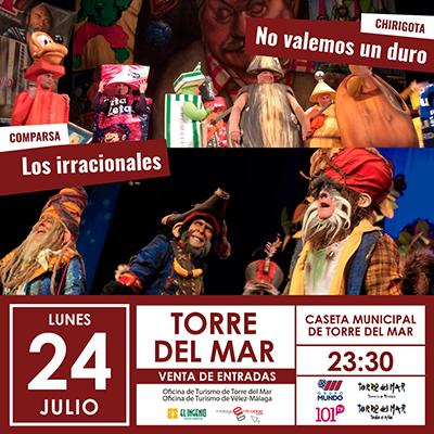 Especial Carnaval en la Caseta Municipal Feria De Torre Del Mar