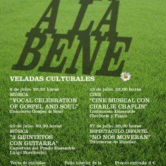 Ven a la Bene, veladas culturales en julio