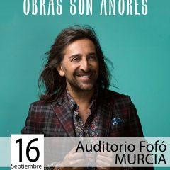 Antonio Carmona presenta en Murcia 'Obras son amores'
