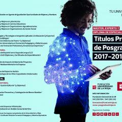 Títulos propios de Posgrado 2017 – 2018. Máster, experto y diploma de especialización