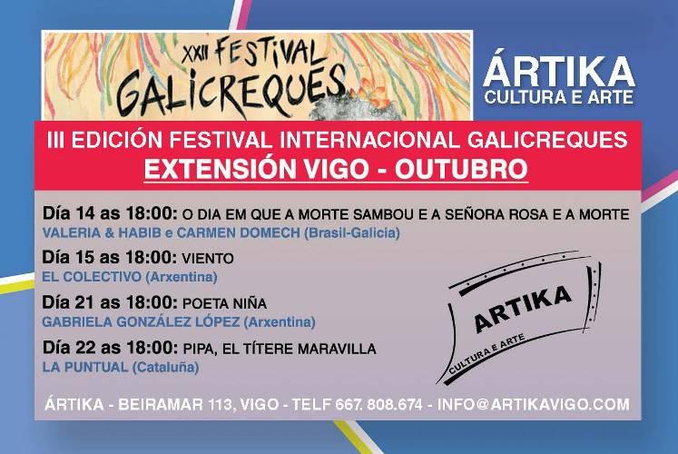 Galicreques, festival internacional de títeres en Santiago y Vigo
