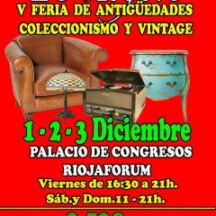 V Feria de Antigüedades, coleccionismo y vintage en Logroño