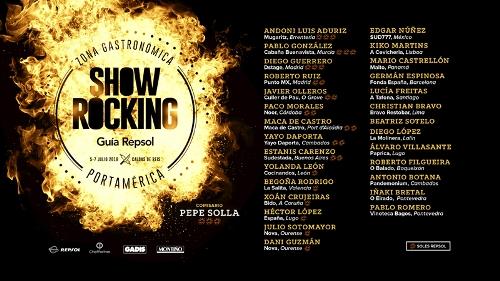El Festival PortAmérica da a conocer la programación gastronómica del ShowRocking Guía Repsol 2018