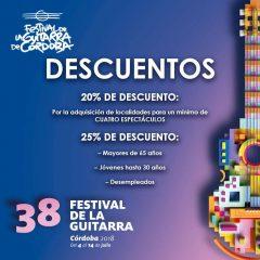 38 Festival de la Guitarra de Córdoba, del 4 al 14 de Julio 2018