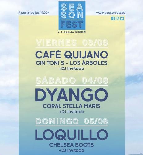 Season Fest, festival de música con Café Quijano, Dyango y Loquillo en Nigrán