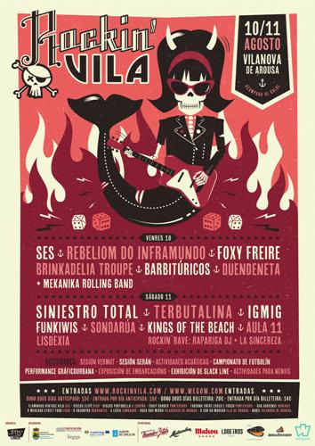 Rockin´ Vila, festival de música en Vilanova de Arousa