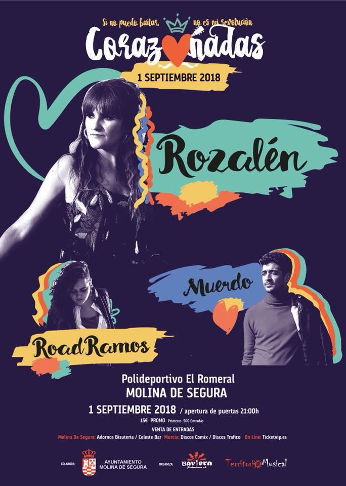 Festival Corazonadas con Rozalén, Muerdo y Road Ramos