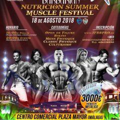 Barbarian Nutricion Summer Muscle Festival, llega esta semana al Festival de Verano Plaza Mayor 2018 (Málaga)