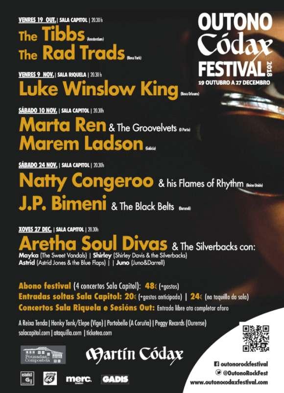 Outono Códax festival, regresan los sonidos de la música negra a Santiago