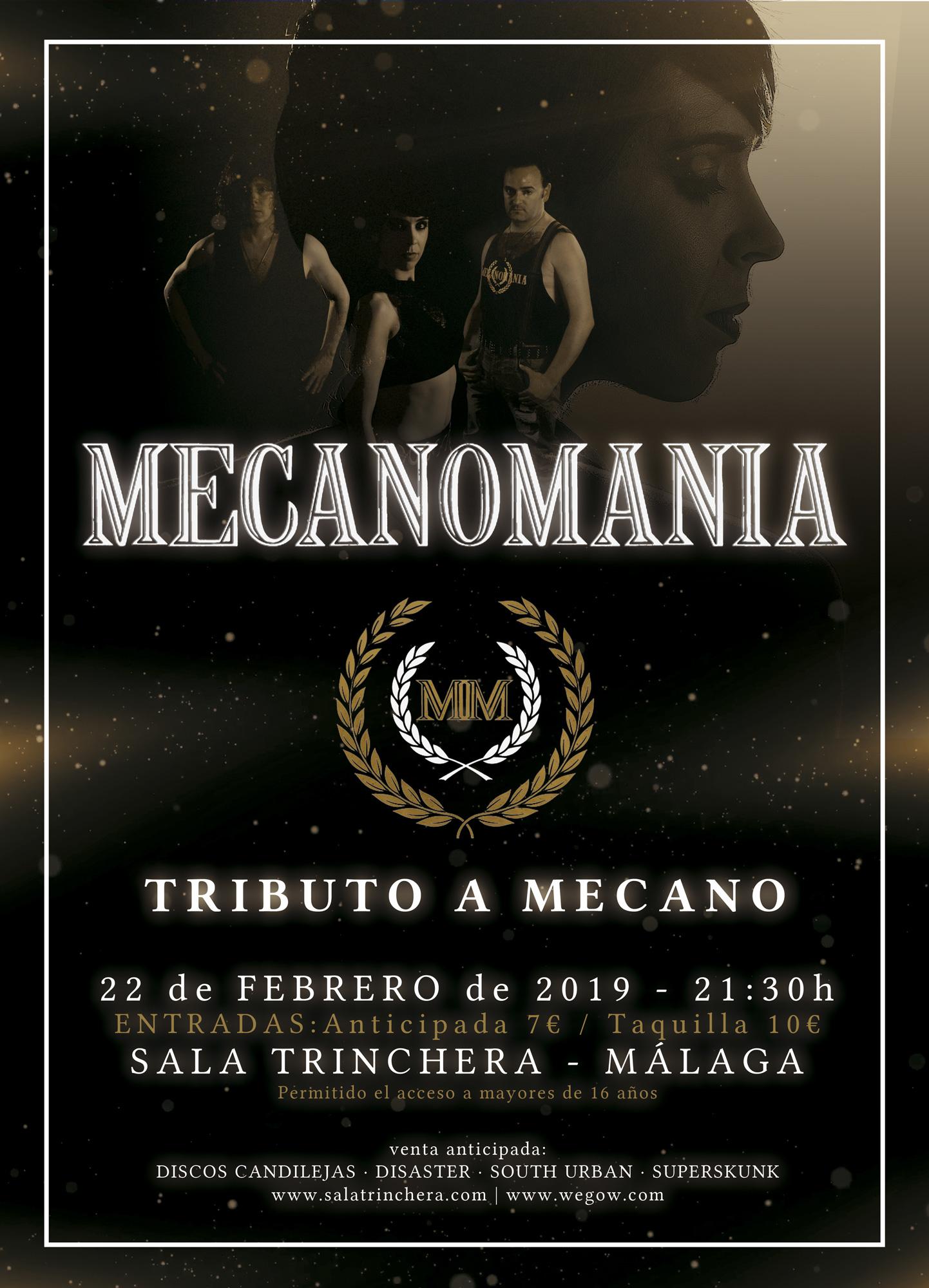 Mecanomanía (Tributo a Mecano) en La Trinchera