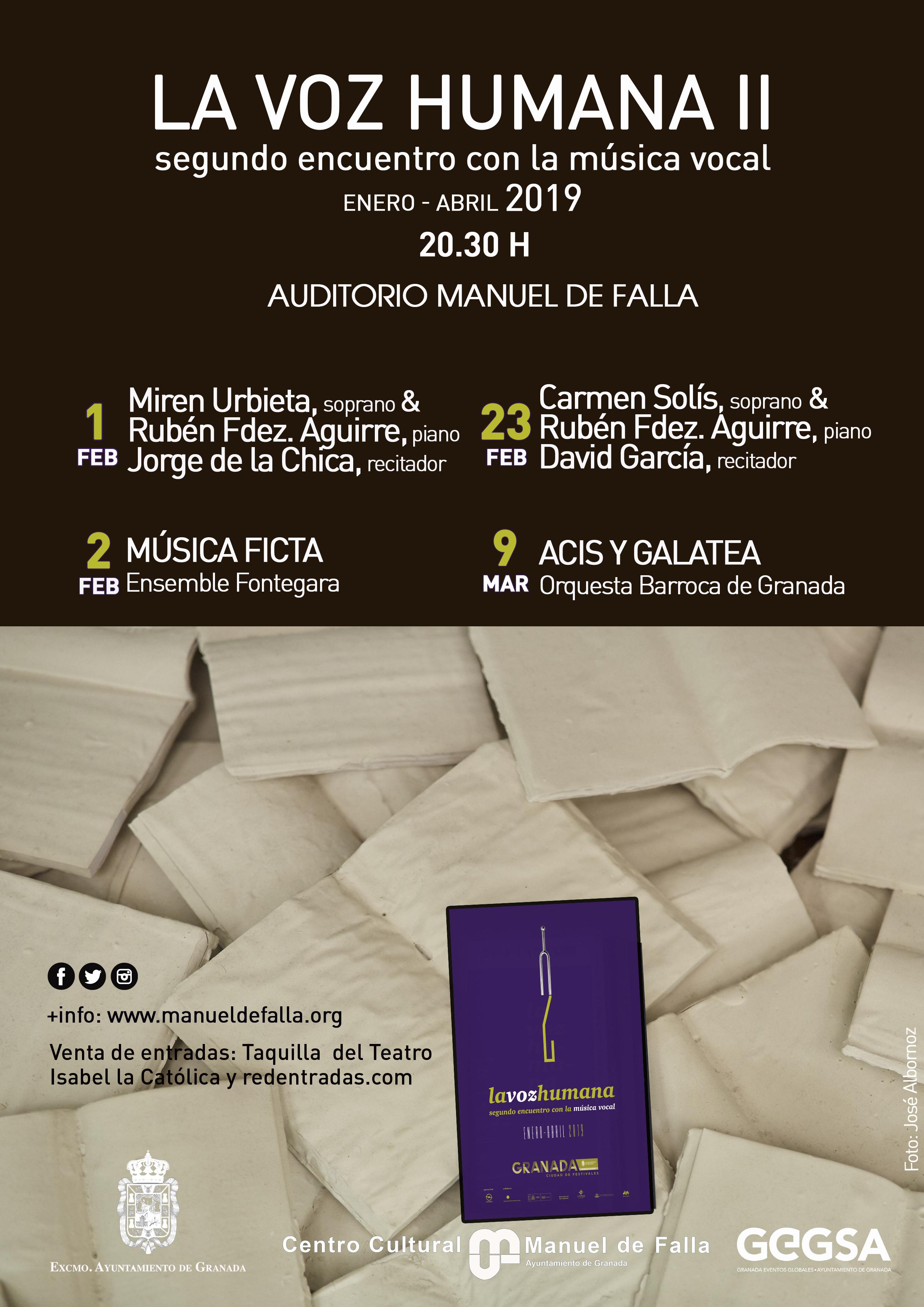 Comienza el Festival La Voz Humana 2019 Granada
