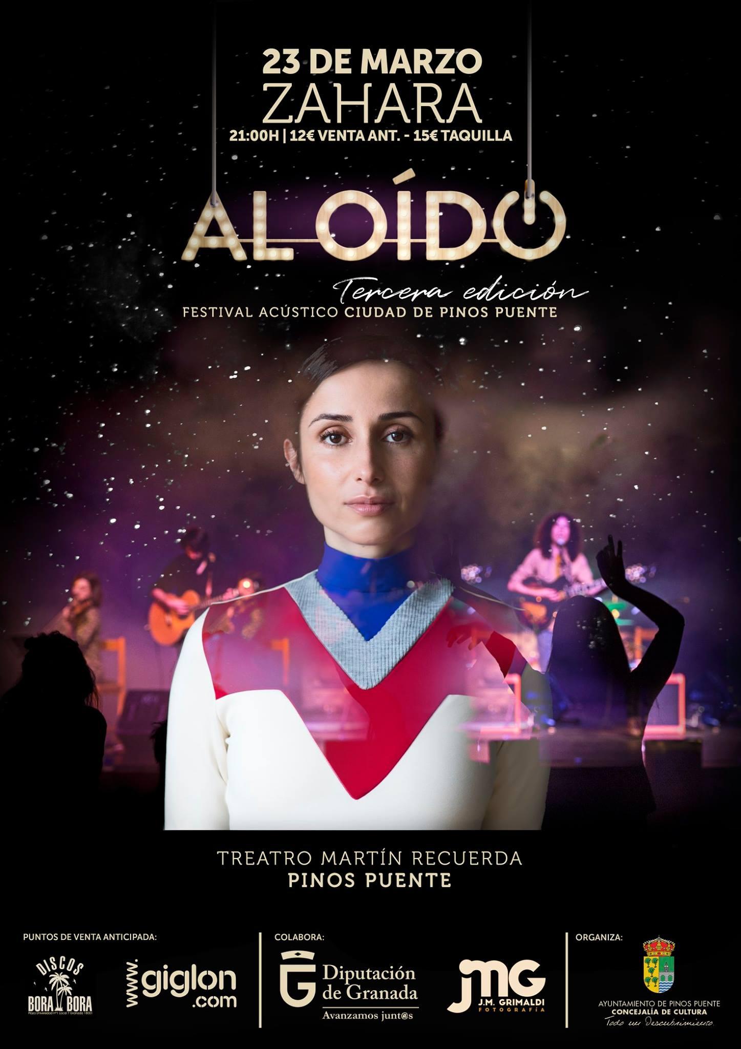 Zahara en Concierto Acústico en el festival AL OIDO Pinos Puente