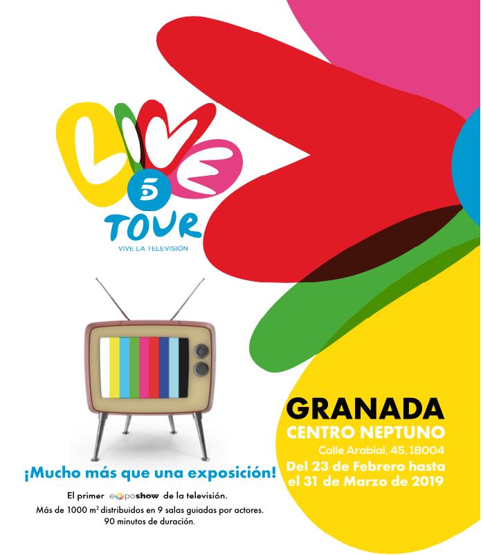 Sorteo entradas dobles para la Exposhow de Telecinco Live en Granada