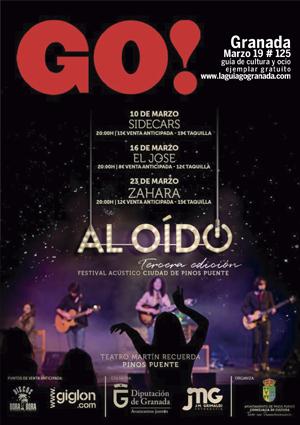 Aquí puedes leer online la Guía del Ocio GO GRANADA Marzo 2019, planes y actividades en Granada.