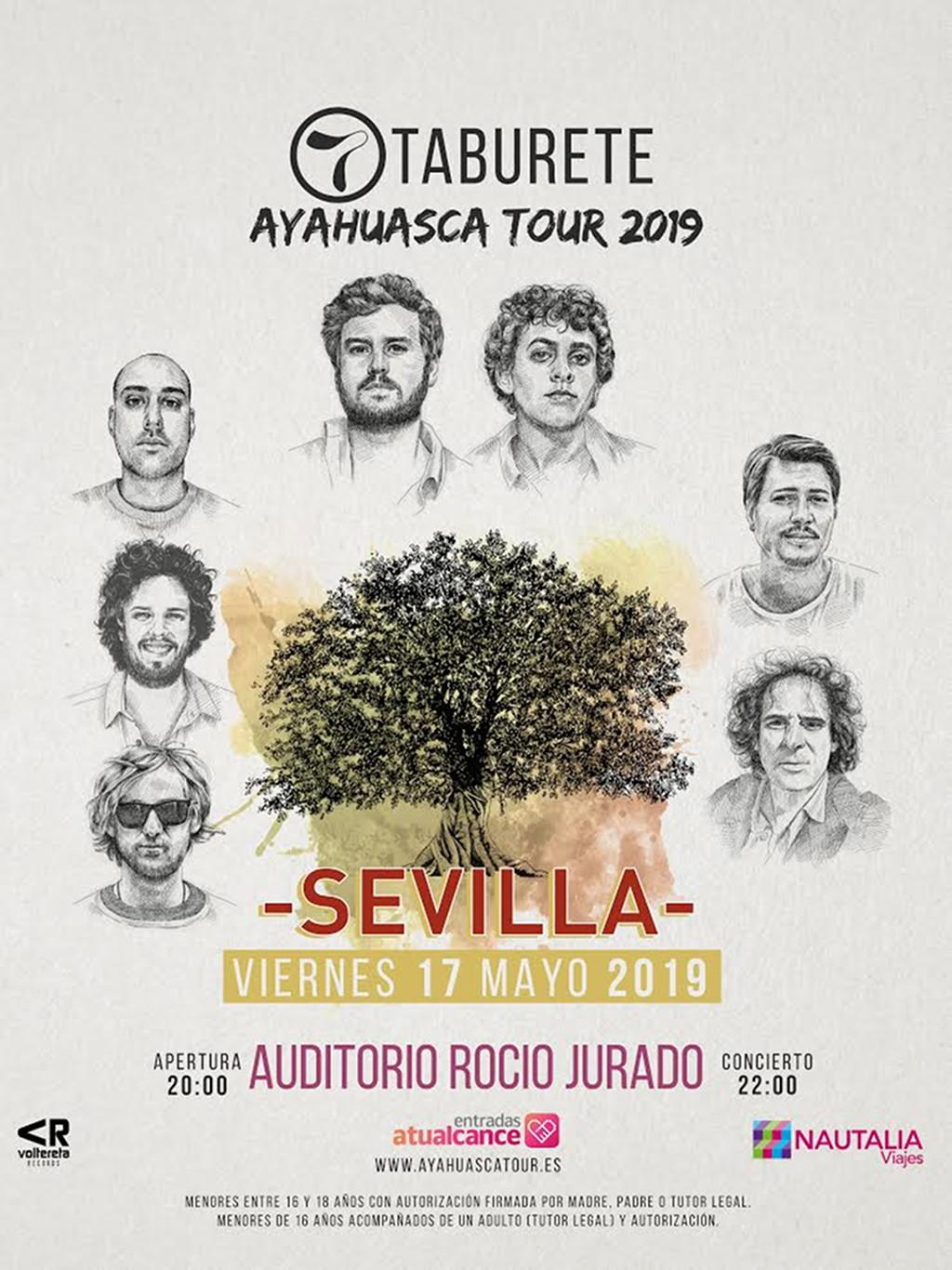 Taburete en concierto con Ayahuasca Tour en el Auditorio Rocío Jurado de Sevilla