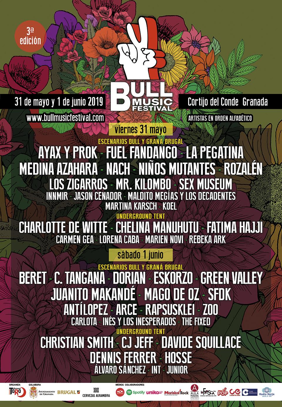 Bull Music Festival 2019 anuncia la división por días de su cartel artístico
