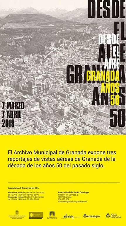 Desde el aire Granada años 50 en el Cuarto Real de Santo Domingo
