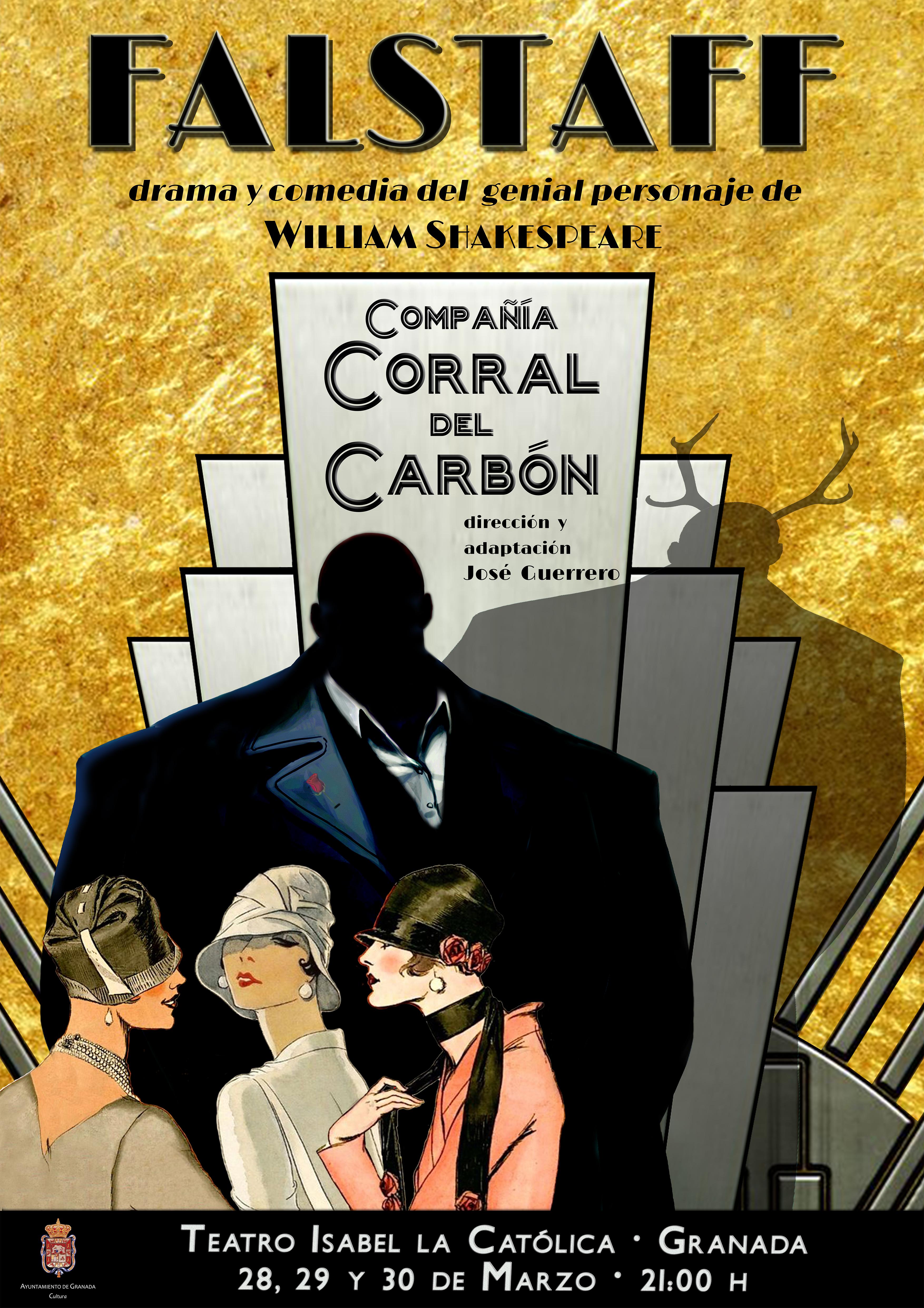 La compañía Corral del Carbón celebra el Día del Teatro conFalstaff