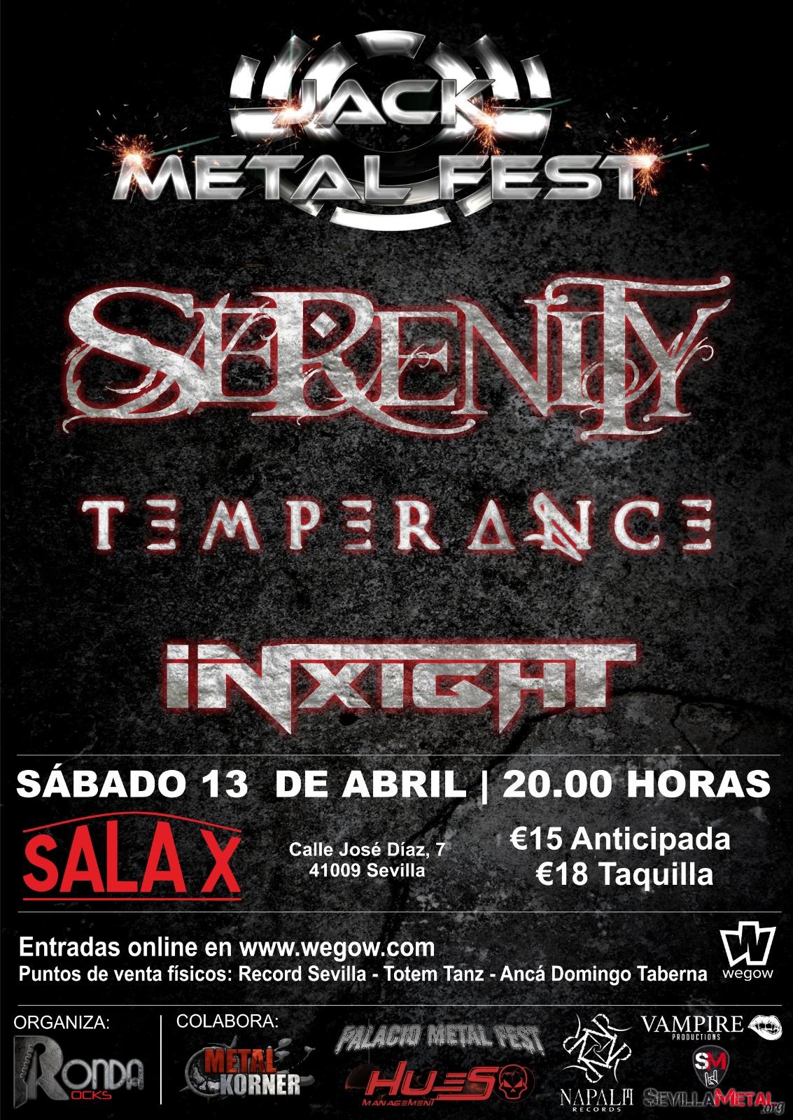 II Jack Metal Fest en Sala X de Sevilla