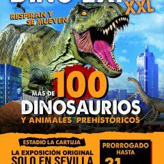 Dino Expo XXL prorroga su estancia en Sevilla hasta el 31 de marzo!