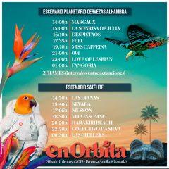 Ya tenemos los horarios de actuación del Festival En Órbita 2019