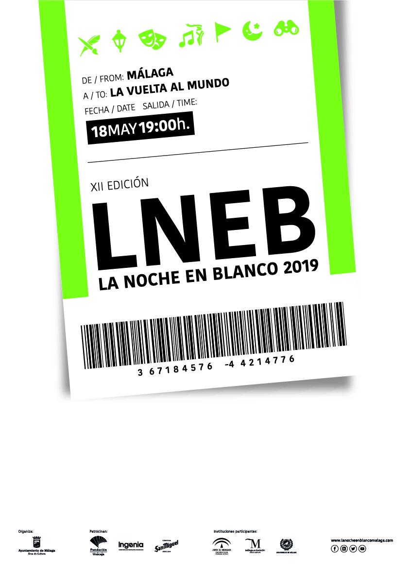 Un billete para dar la vuelta al mundo en la Noche en Blanco 2019 en Málaga