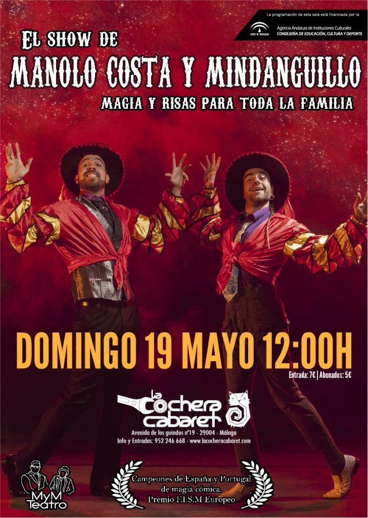 El show de manolo Costa y Mindanguillo en La Cochera Cabaret de Málaga