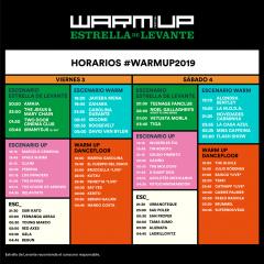 Horarios de Warm Up Estrella de Levante 2019