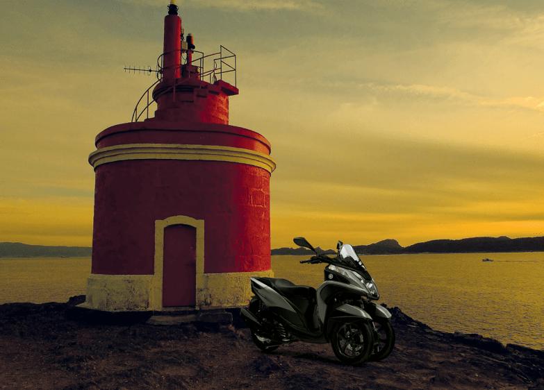 Vive una Pontevedra distinta con tu Yamaha Tricity 125