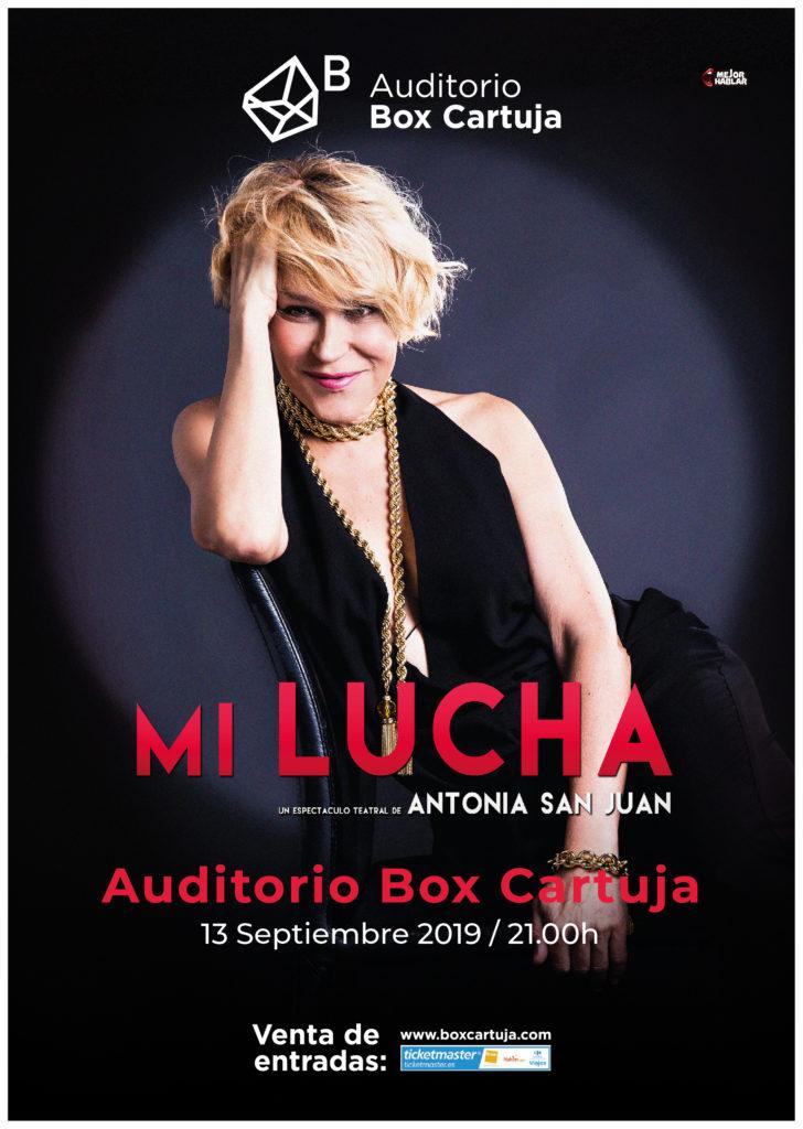 Antonia San Juan presenta Mi Lucha en Box Cartuja de Sevilla