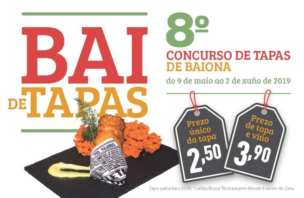Bai de tapas 2019, concurso de tapas en Baiona