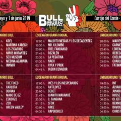 Bull Music Festival 2019 publica sus horarios