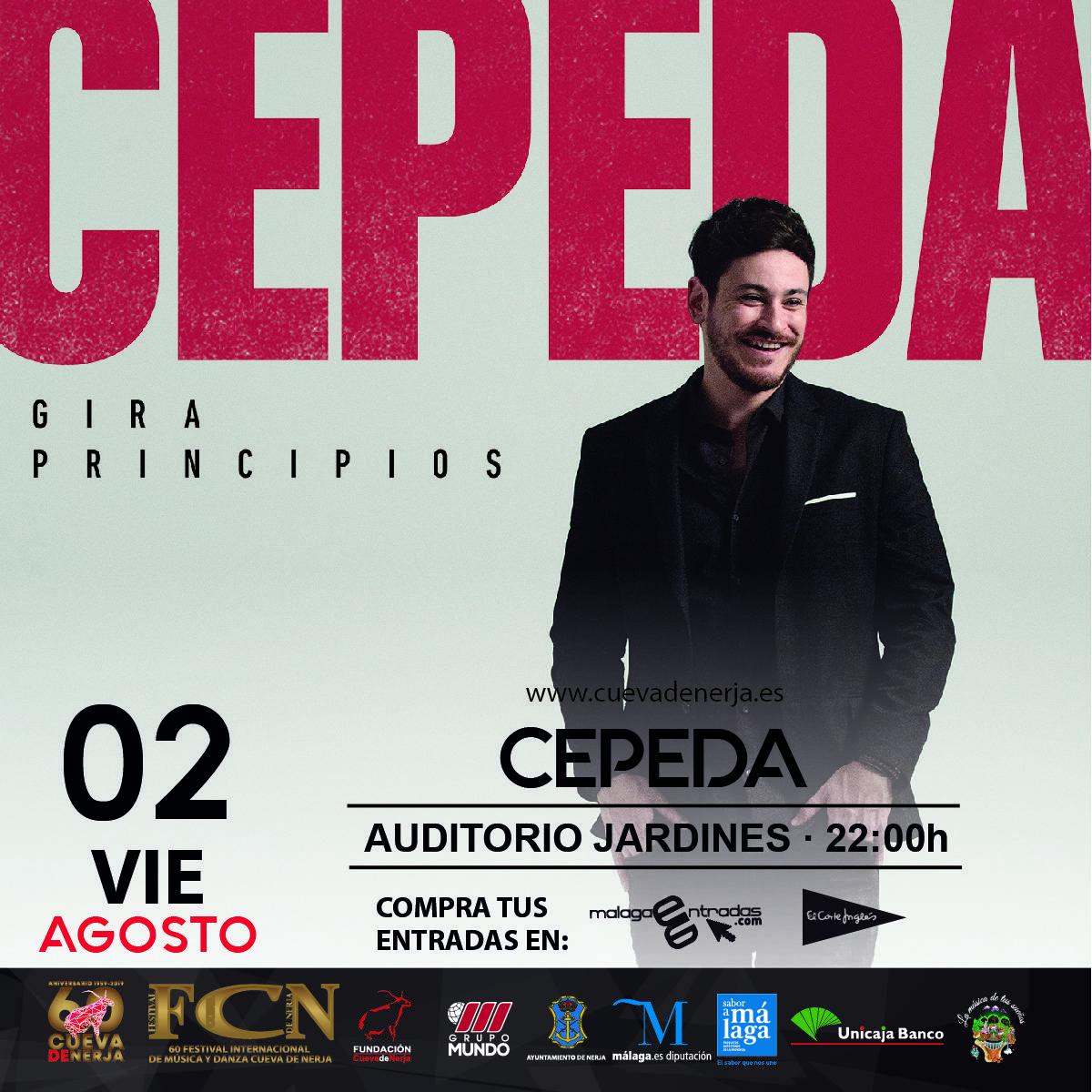 Cepeda presenta Principios en la Cueva de Nerja en Málaga