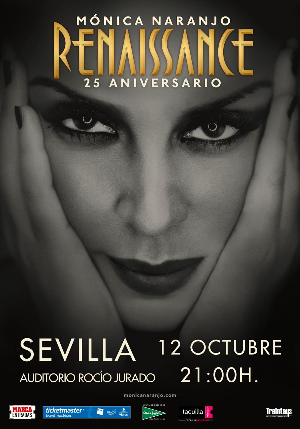 Mónica Naranjo presenta Renaissance en el Auditorio Rocío Jurado de Sevilla
