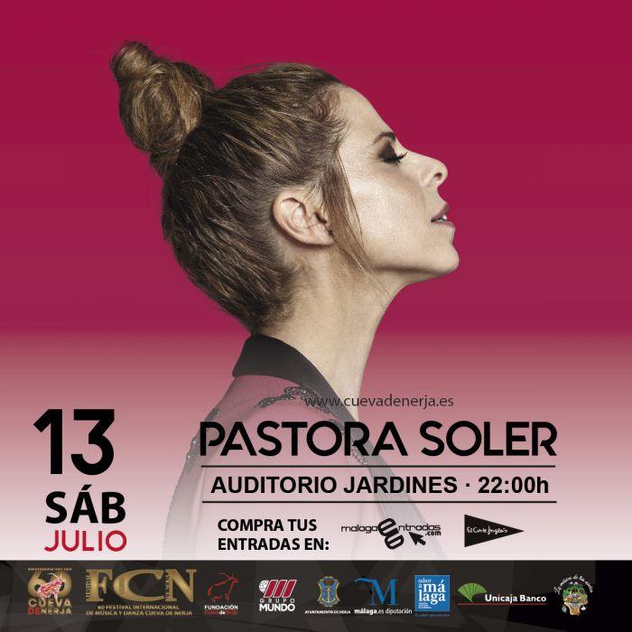 Pastora Soler presenta La Calma en la Cueva de Nerja en Málaga
